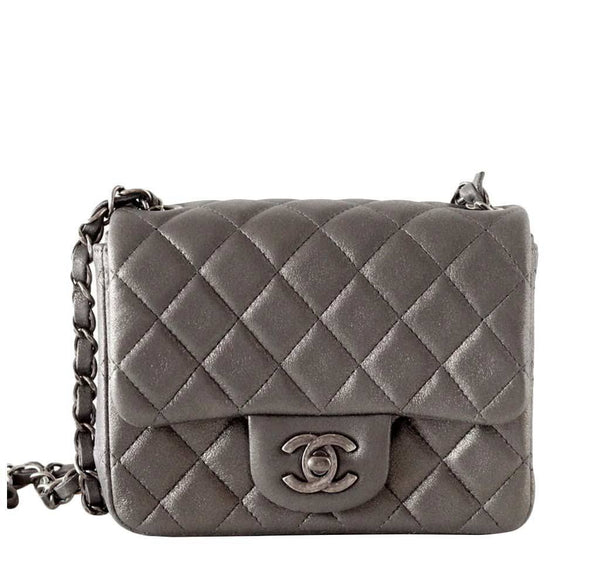 Chanel Mini Square Bag Gray