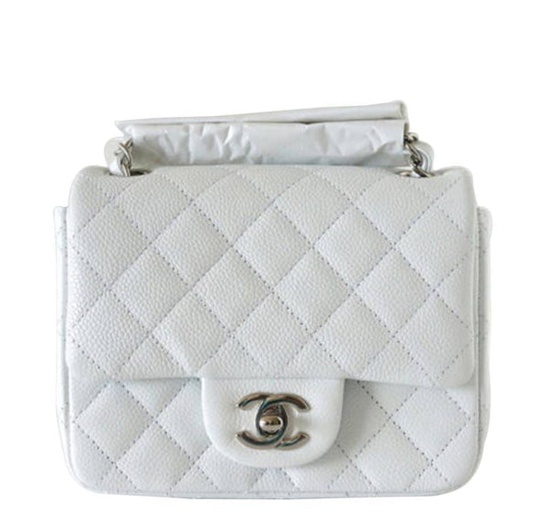 Chanel Mini Square Flap Bag White