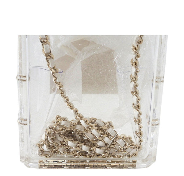 Chanel Parfume Bottle Bag Clear New Chain