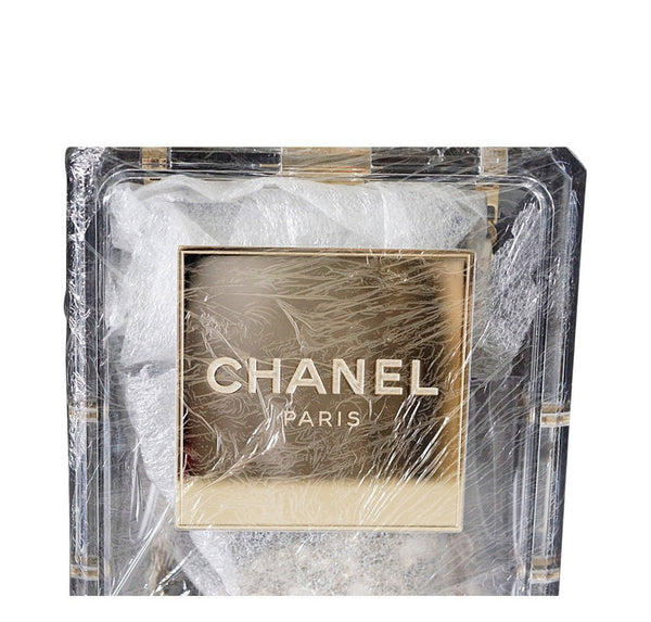 Chanel Parfume Bottle Bag Clear New Detail