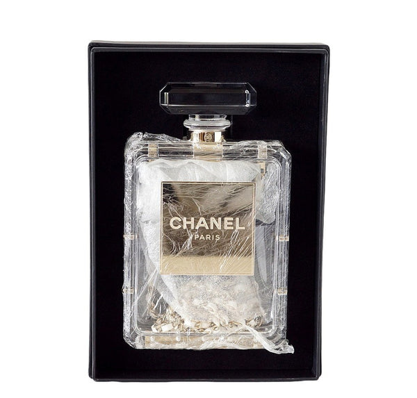 Chanel Clear Plexiglass Perfume Bottle Bag