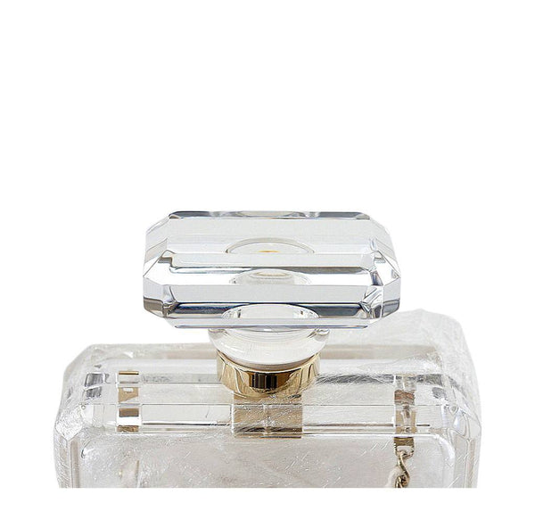 Chanel Parfume Bottle Bag Clear New Top