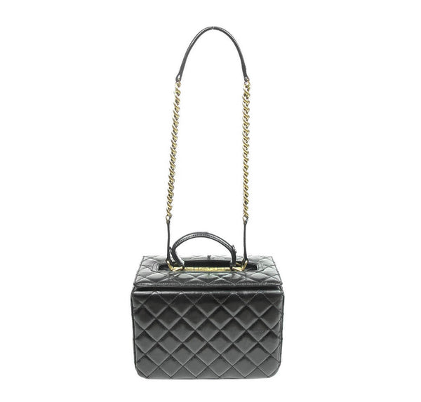 Chanel Vanity Bag Black Used Front