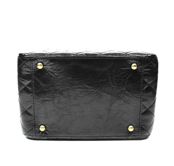 Chanel Vanity Bag Black Used Bottom
