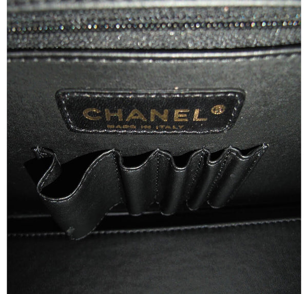 Chanel Vanity Bag Black Used Inside