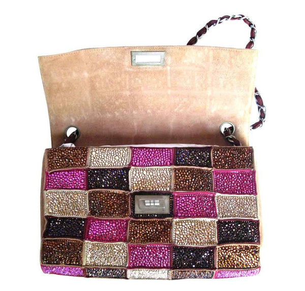 chanel crystal bag special multi color used open