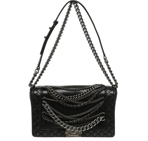 Chanel Enchained Boy Bag Black