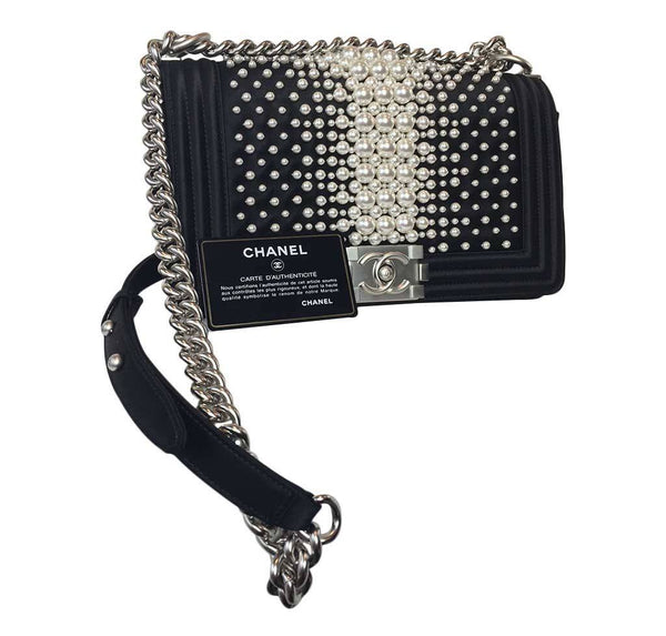 Chanel pearl boy bag limited edition new full