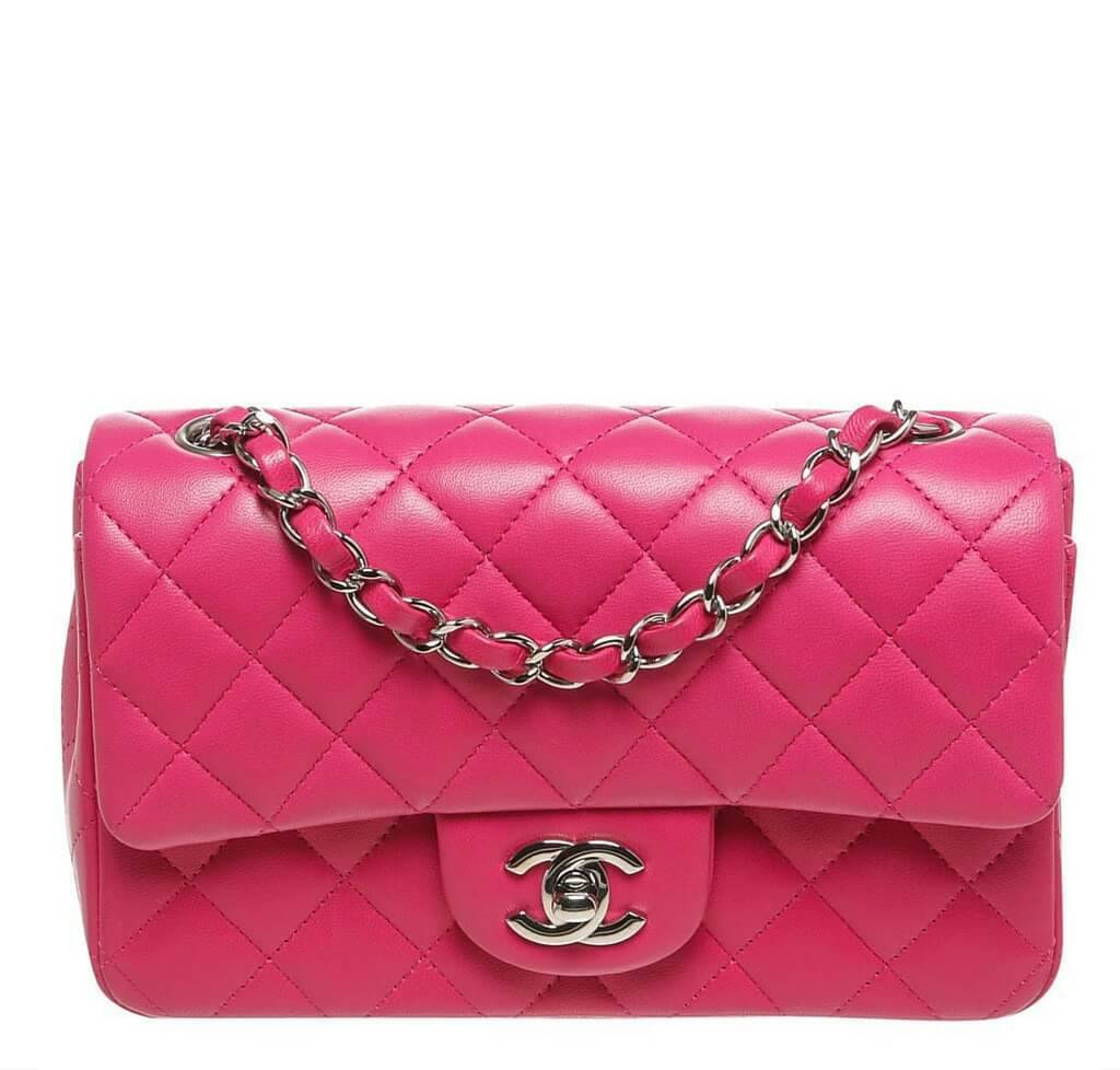 ee37ead3b1 Chanel Mini Classic Flap Bag Pink - Lambskin | Baghunter