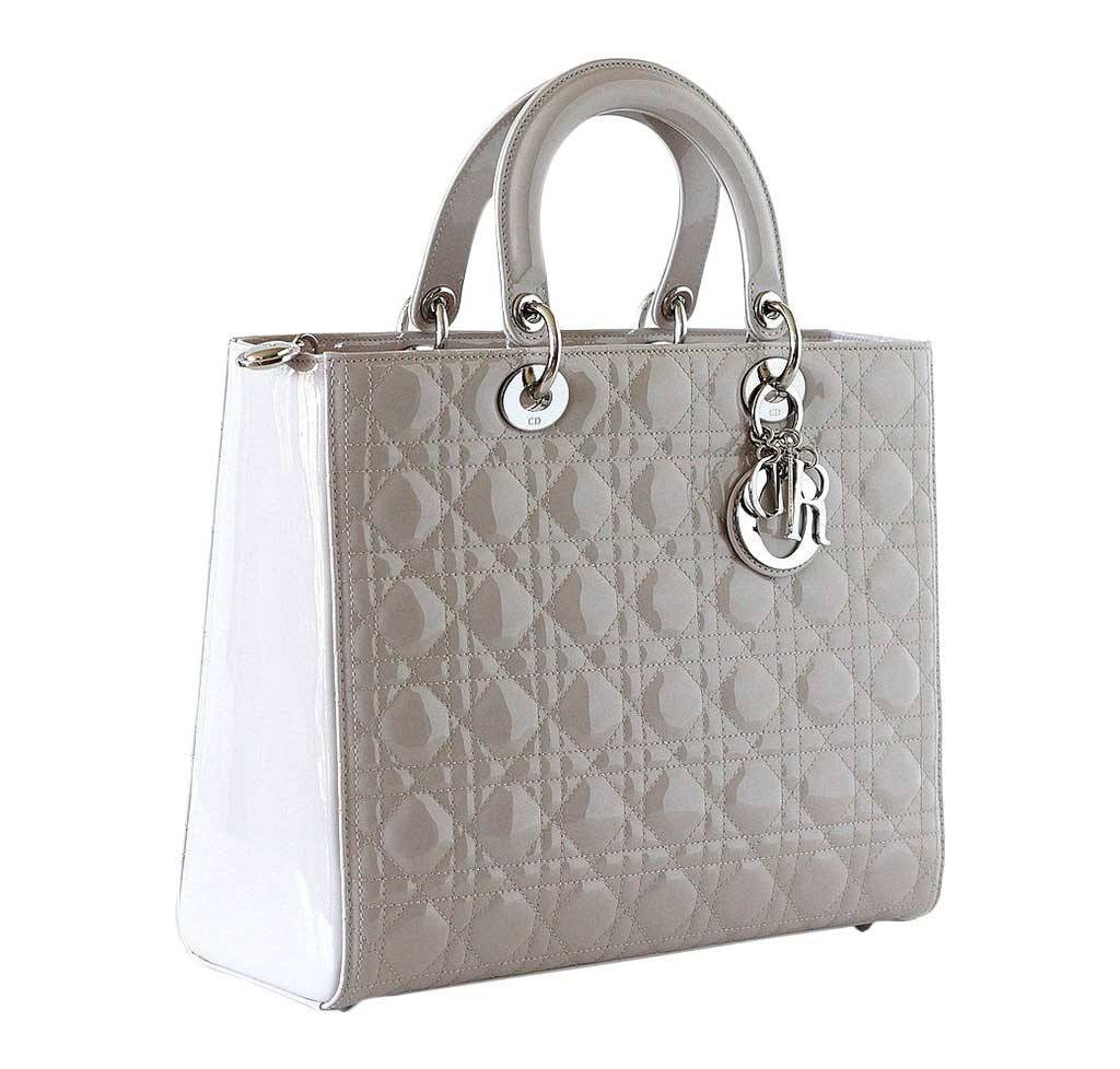 Lady Dior Bag Pearl Grey Christian Dior Lady Dior Bag Pearl Grey New Side  ... 075dc26eac56a