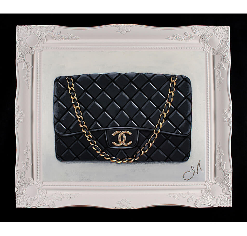 Original Timeless Black Chanel Painting  dd68cdfb0063e