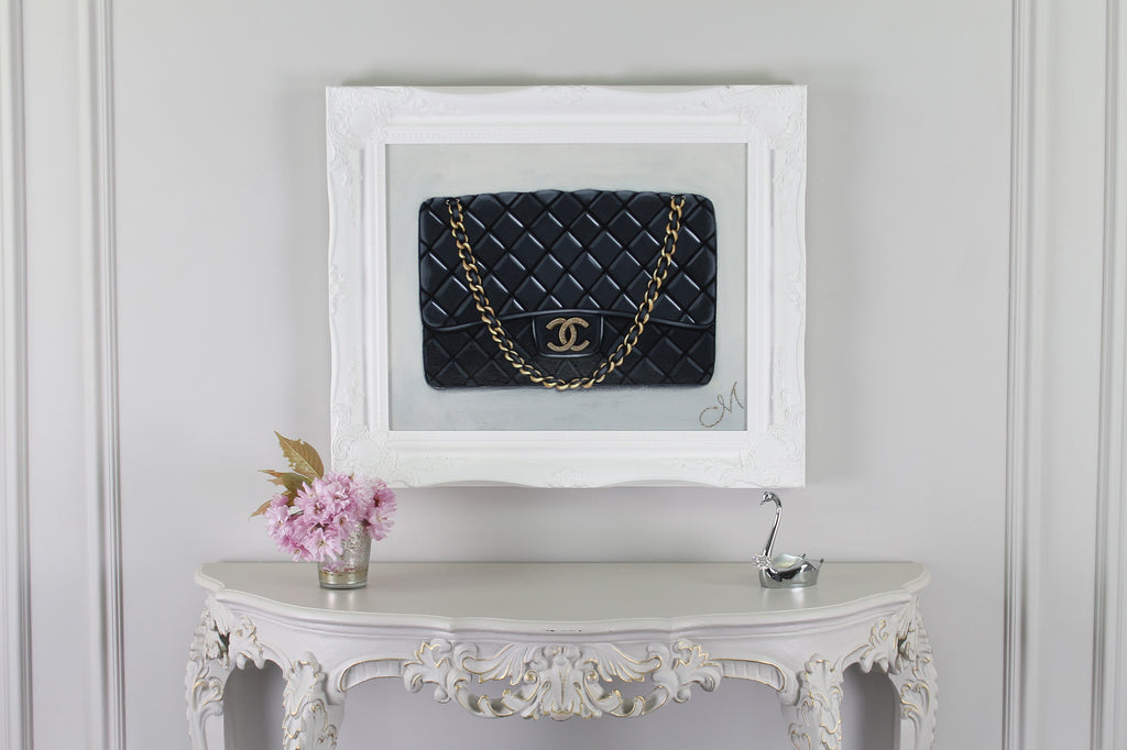 Original Timeless Chanel Painting Original Timeless Chanel Painting on Wall  With Swan Original Timeless Black ... 805a8e1dd0d58