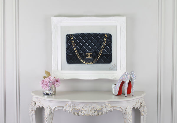 Small Limited Edition Timeless Chanel Giclée on Wall
