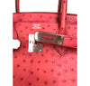 Hermes Birkin 30 Ostrich Bougainvillea Palladium very good clasp embossing