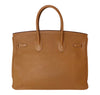 Hermes Birkin 35 Bag Gold Togo Palladium very good back