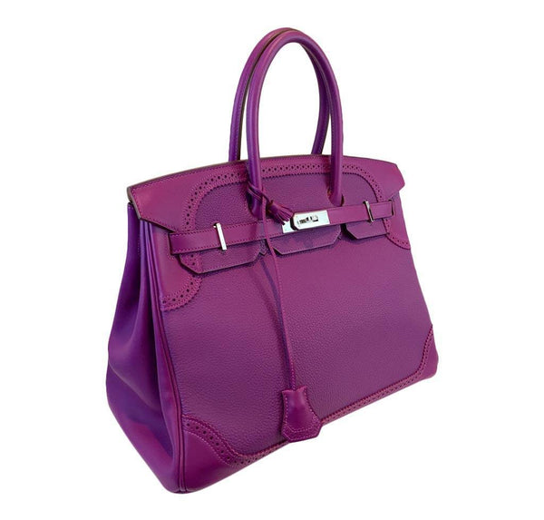 hermes birkin 35 ghillies anemone new side