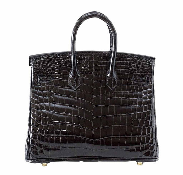 Hermes Birkin 25 Black Crocodile New Back