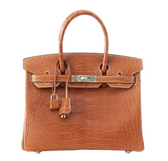 Hermes Birkin 30 Alligator Fauve Bag