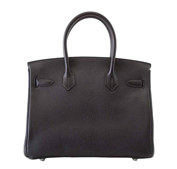 Hermes Birkin 30 Black New Back