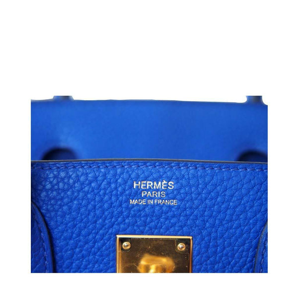 Hermes Birkin 30 Blue Electric Candy New Embossing