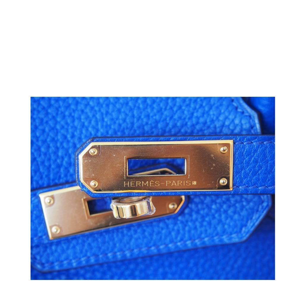 ... Hermes Birkin 30 Blue Electric Candy New Engraving ... db40c8ec9