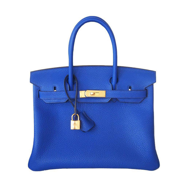 Hermes Birkin 30 Blue Electric Bag