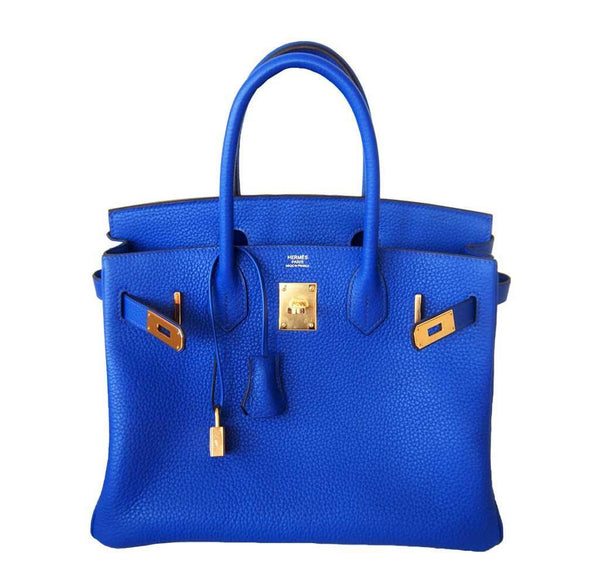 Hermes Birkin 30 Blue Electric Candy New Open