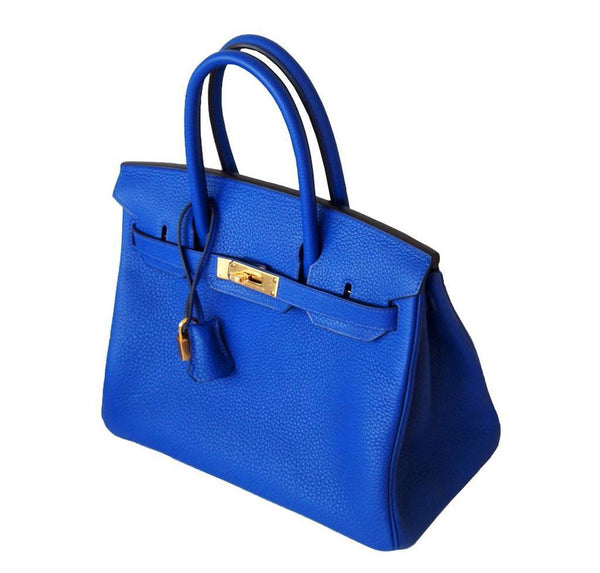 Hermes Birkin 30 Blue Electric Candy New Side