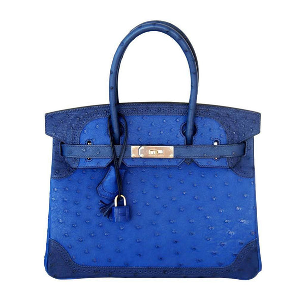 Hermes Birkin 30 Ghillies Tri Color Blue Limited Edition