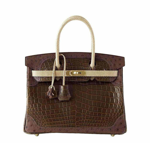 Hermes Birkin 30 Grand Marriage Bag
