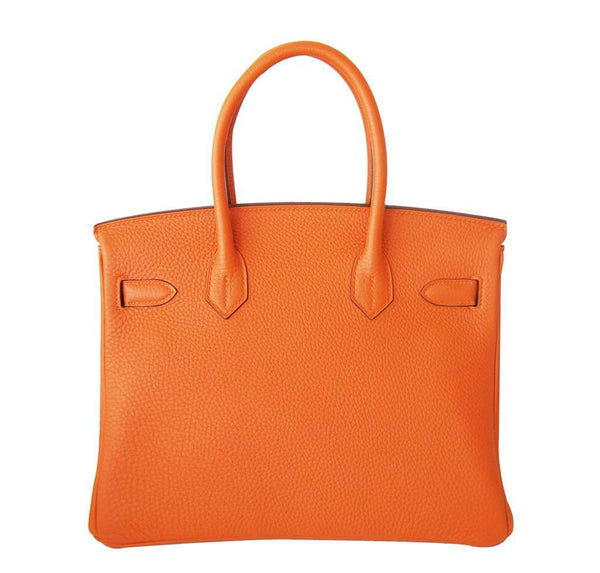 Hermes Birkin 30 Orange New Back