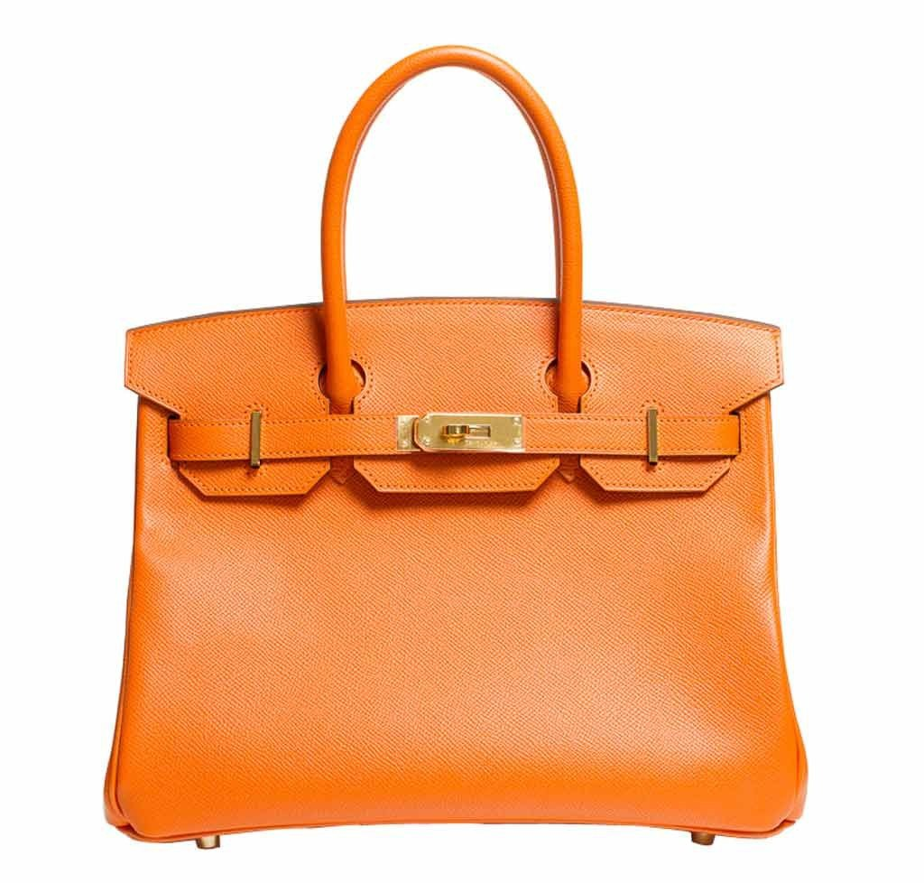 Hermes Birkin 30 Bag Orange Togo ... 9013c799e2617