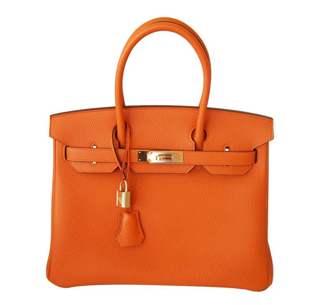 Hermès Birkin 30 in Orange Togo Leather GHW  dadba964fbbf5