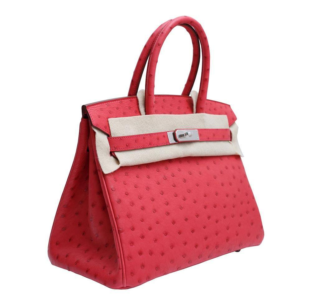 c92c27e6ae26 ... low price hermes birkin 30 ostrich red new side 48867 1e30d