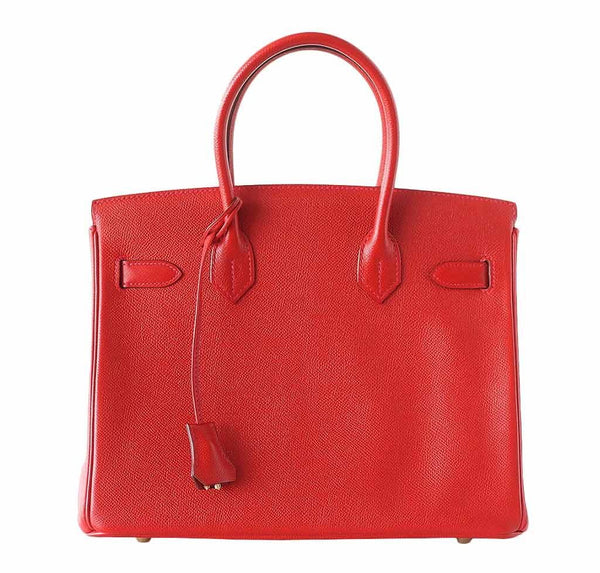 Hermes Birkin 30 Rouge Casaque Used Back