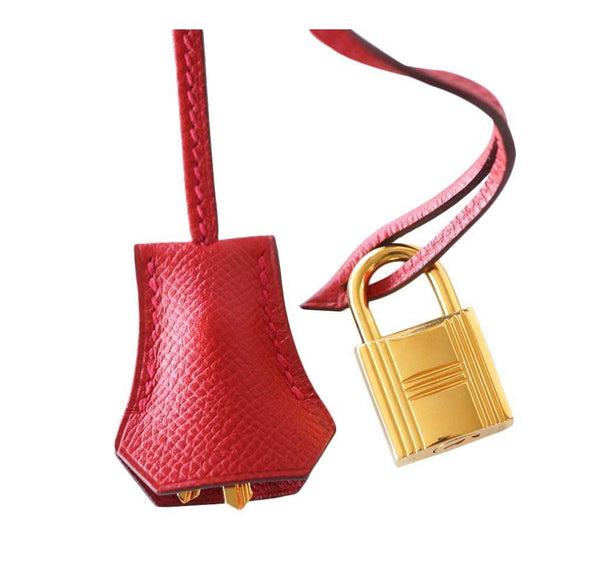 Hermes Birkin 30 Rouge Casaque Used Lock