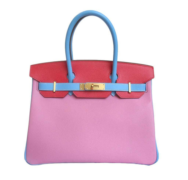 Hermes Birkin Bag 30 Tri-Color