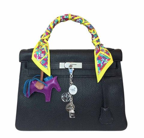 Hermes Kelly Black Togo Bag PHW