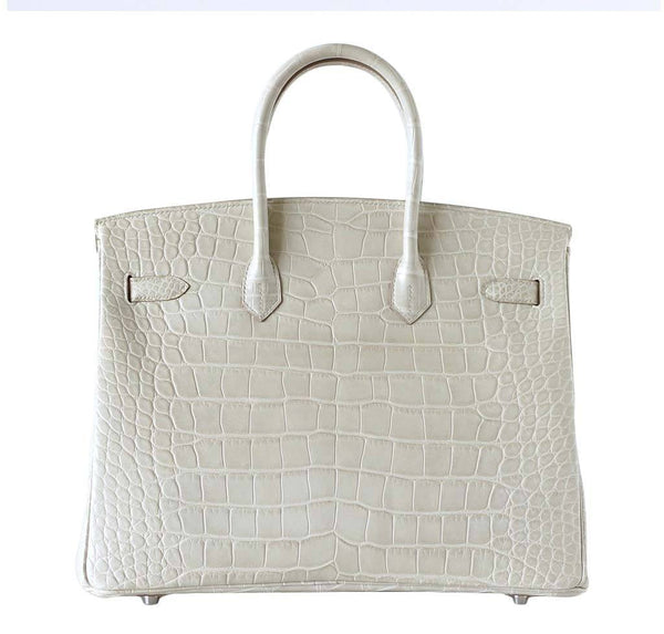 Hermes Birkin 35 Alligator Beton New Back