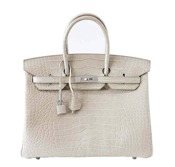 Hermes Birkin 35 Alligator Beton Bag