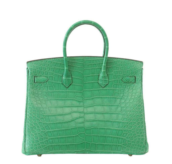 Hermes Birkin 35 Alligator Cactus New Back