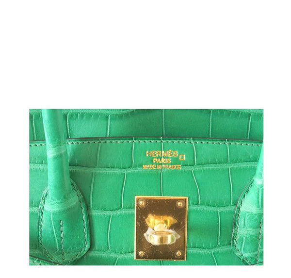 Hermes Birkin 35 Alligator Cactus New Embossing