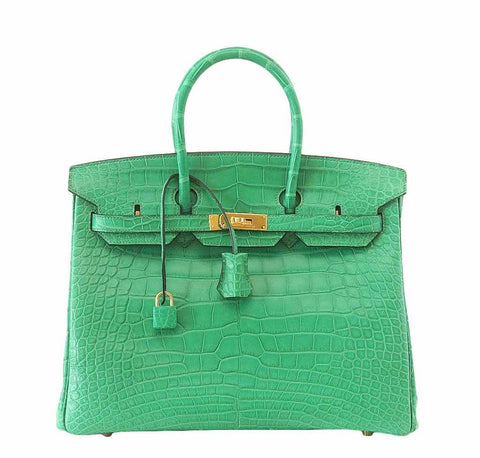 Hermes Birkin 35 Alligator Cactus Bag