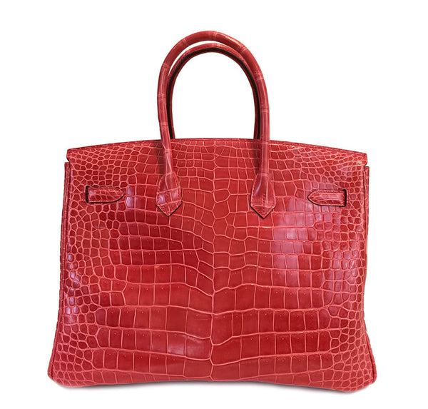 Hermes Birkin 35 Bougainvillea Used Back
