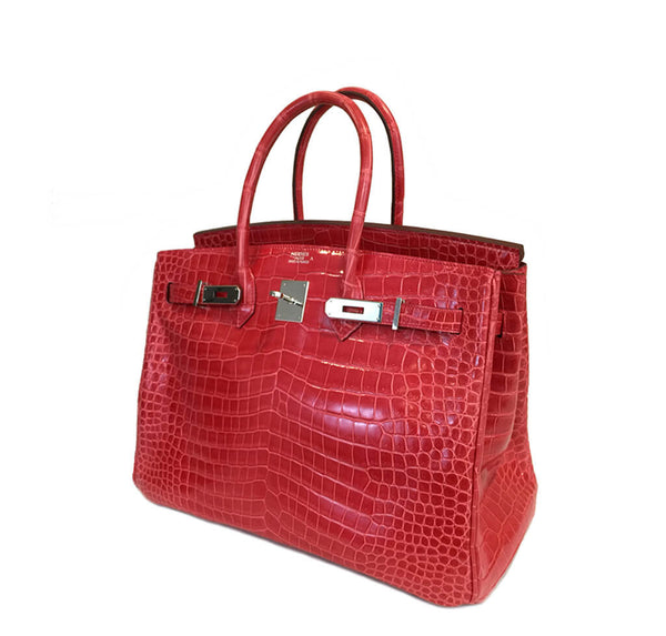 Hermes Birkin 35 Bougainvillea Used Side Open