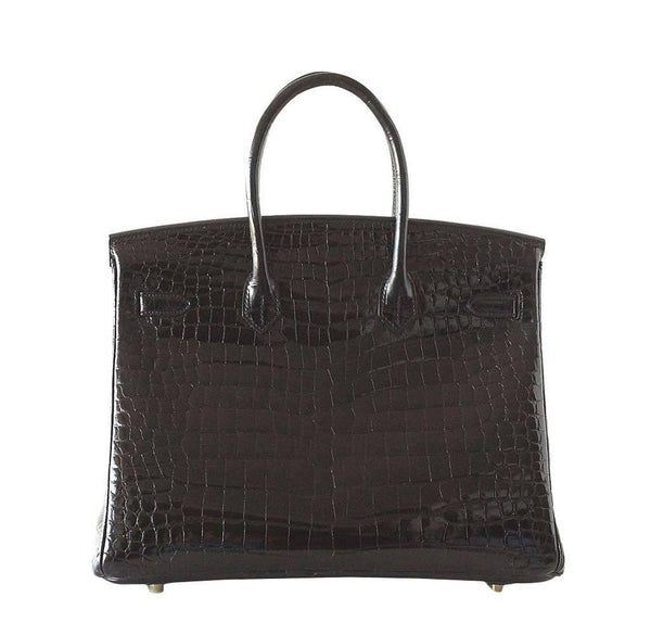 Hermes Birkin 35 Crocodile Black New Back