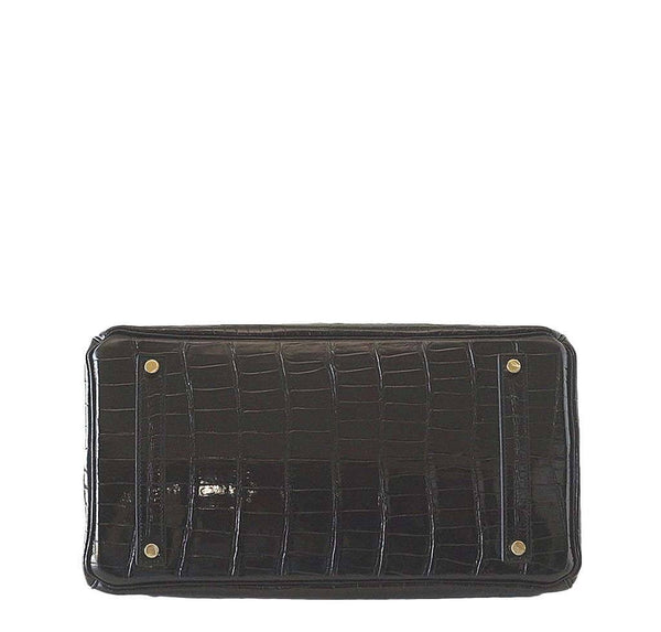 Hermes Birkin 35 Crocodile Black New Bottom