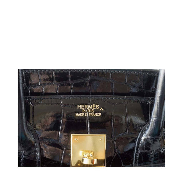 Hermes Birkin 35 Crocodile Black New Embossing