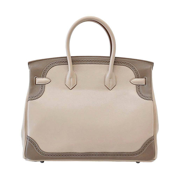 Hermes Birkin 35 Ghillies New Back