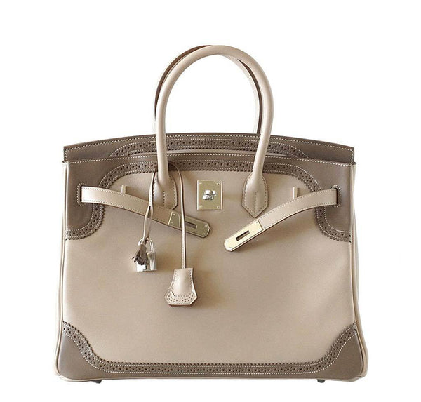 Hermes Birkin 35 Ghillies New Front Open